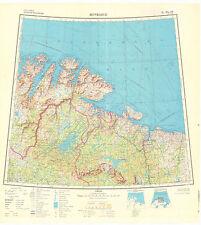 Russian Soviet Military Topographic Maps - MURMANSK (Russia) 1:1Mio, ed.1968