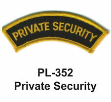"""NEW PRIVATE SECURITY EMBROIDERED PATCHES 4"""""""