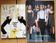 DOLCE & GABBANA Women's Fashion Show Winter 2012 Catalogue NEW