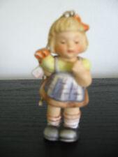 1997 Berta Hummel Girl Gift Christmas Tree Ornament Porcelain Goebel Figurine