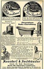 Moosdorf & Hochhäusler Berlin BADE- EINRICHTUNGEN Historische Reklame von 1901