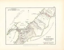 MAP/BATTLE PLAN ~ BATTLE OF ALEXANDRIA ~ 21st MARCH 1801 ~ FRENCH & BRITISH