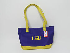 LSU tote handbag purse college school Purple gold Height 9 Length 15