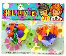 1970's Vintage Plastic Sea Shell Charms Jewelry Making set