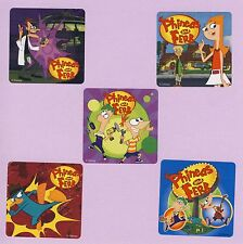 10 Phineas and Ferb - Large Stickers - Party Favors