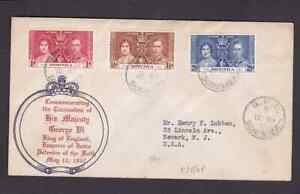 Dominica 1937 FDC 1st day cover to the USA KGVI coronation #2