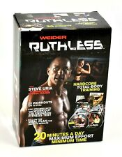 Weider Ruthless Workout 10 DVD Complete Set Steve Uria Exercise Fitness Trainer