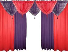 Rideaux et cantonnières violette en polyester pour la maison