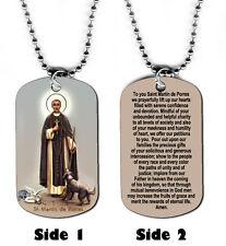 DOG TAG NECKLACE - St. Martin de Porres Christian Religious God Jesus Prayer