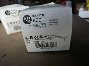 Allen-Bradley 800T-FXM7B6 SWITCH,PUSHBUTTON Blue Mushroom on off