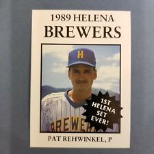 1989 Sports Pro HELENA Brewers #4 PAT REHWINKEL Sarasota FLORIDA