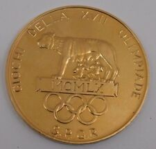 1960 Rome Olympic Gold Medal 51 mm. 69.8 Grams .900 Gold