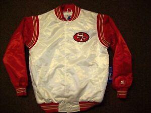 SAN FRANCISCO 49ERS Starter Throwback Snap Down Jacket S M L XL 2X  WHITE