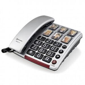 Amplicomms BigTel 40 plus Schnurgebundenes Seniorentelefon mit Fototasten