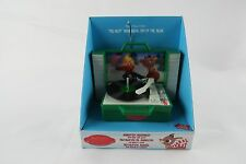 Rudolph the Red Nosed Reindeer Animated Green Record Player Christmas Ornament