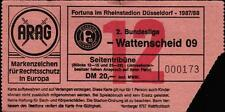 Ticket II. BL 87/88 Fortuna Düsseldorf - SG Wattenscheid 09, Seitentribüne