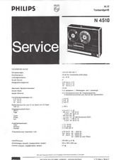 Philips SERVICE MANUAL FOR N 4510 Complete German Copy