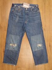 Levis Vintage Distress LVC 1915 501 White Oak Blue Selvedge Cinch Brace Jean W34