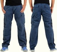 GUESS Jeans blau Gr. W31 L34 (31/34) Herren Cargo Freizeit Hose Arbeitshose NEU