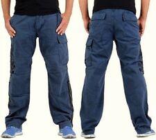 GUESS Jeans blau Gr. W 31 (L32/L34) Herren Cargo Freizeit Hose Arbeitshose - NEU