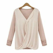 Chiffon Long Sleeve Casual Tops & Blouses for Women