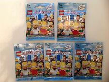 5 New Lego Minifigures The Simpsons 71005. 5 Random Factory Sealed Packets