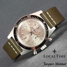 NO RESERVE AUCTION1960s Jacques Monnat Chronograph 20ATU Watch Landeron Cal. 248