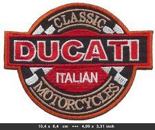 DUCATI Aufnäher Aufbügler Patches Motorrad CLASSIC ITALIAN MOTORCYCLES