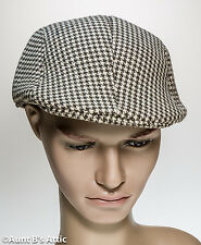 Newsboy Cap 1920's Style Tan & Brown Men's Checkered Costume Hat One Size