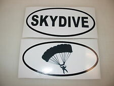 SKYDIVE & PARACHUTE OVAL Decals Car Window Bumper Sticker Plane Sky Dive