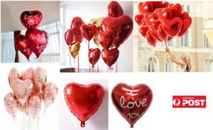 """Heart Helium Foil Balloons (18""""/45cm) - LOVE Heart Valentine's Day Foil Balloons"""