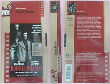 VHS film DONNIE BRASCO sigillata CORRIERE SERA Al Pacino Johnny Depp(F162)no*dvd