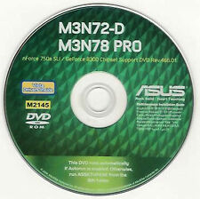 ASUS M3N72-D or M3N78 PRO Motherboard Drivers Installation Disk M2145