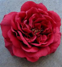 """Large 5 1/2"""" Red Rose Flower Brooch Pin, Wedding, Dance, Prom, Bridal, Party"""