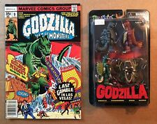 GODZILLA MINIMATES SERIES 1 SEALED SET (2014) Diamond Select + Marvel Comic #9