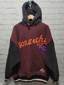 Kansas City KC Monarchs NLB Underground Railroad Hoodie 2XL Burgundy Black
