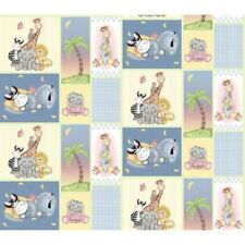 Bazooples Patch Giraffe Zebra Animal Nursery Sewing Cotton Fabric by 1/2 Yard