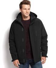 $289 Hawke & Co Men Black Pro Softshell Parka Down Hood Winter Coat Jacket L