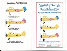Starfighter N2S-3 Kaydet USN Primary Trainer 1940s, Decals 1/48 10 ST DO