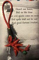 Italian Red Horn Cornicelli 🍀Lucky Keychain Amulet 🇭🇺🌶Evil Eye Malocchio 👁