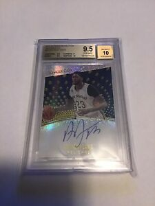 2017-18 Panini Revolution Anthony Davis Autographs Auto BGS 9.5 Pelicans Lakers!
