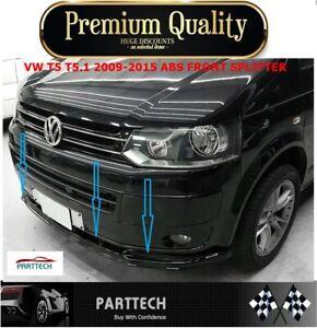 VW T5 T5.1 2009-2015 ABS FRONT SPLITTER - SPOILER -LOWER SPLITTER-GLOSS BLACK
