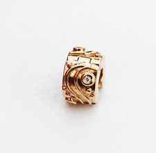 "Gen. Pandora 14ct. Gold Clip with Diamond ""Babbling Brook"" - 750418D - retired"