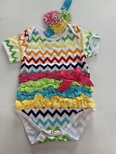 Newborn Kids Baby Girl Outfits Clothes Romper Bodysuit+ Set -Size 6-12mo. 2pc.