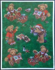 Vintage Stickers - Hallmark - Christmas - Teddy Bears - Mint Condition!
