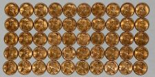 1951 LINCOLN WHEAT CENT PENNY 1C CHOICE BU RD / RB FULL ROLL 50 COINS