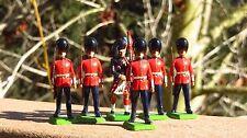 Britains 7238 Metal Toy Soldiers Models Scots Guard Bag Piper & 5 Men Guards #1