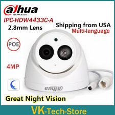 Dahua 4MP IPC-HDW4433C-A HD Dome Network IP Camera Built-in Mic 2.8mm USA Stock
