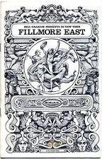 Original Jefferson Airplane Program Fillmore East (New York, NY) Nov 26, 1969