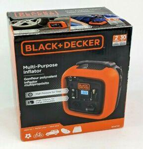 Black & Decker 12V Tire Inflator, Multi Purpose Portable Inflator BDINF12C NEW